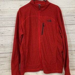 The North Face full zip red jacket L